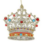 Wooden Painted Crown Decoration