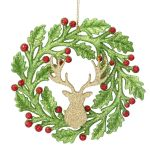 Gold Stag Wreath Decoration