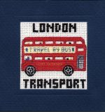 London Bus Miniature Cross Stitch Kit