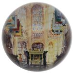 Henry VII Lady Chapel by Alexander Creswell Domed Glass Paperweight