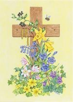 Bluebell Cross Easter Card