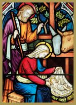 Stained Glass Nativity Christmas Card Pack