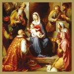 The Nativity by Franz von Rohden Christmas Card Pack of 5