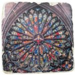 Rose Window Marble Coaster