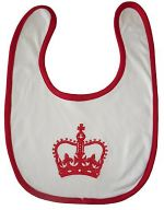 Embroidered Crown Bib