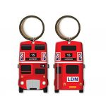 Red Bus Double Sided Keyring