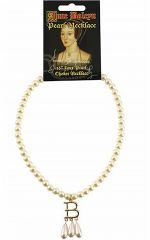 Anne Boleyn Faux Pearl Initial Necklace