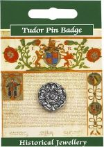 Tudor Rose Pewter Pin Badge