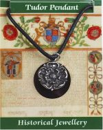 Tudor Rose Pewter Necklace