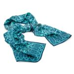 Rory Hutton Blue Chapter Tiles Silk Scarf