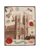 Vintage Westminster Abbey Metal Sign