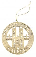 Westminster Abbey Gold Wooden Cut Out Decoration