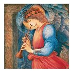 Angel Playing a Flageolet Christmas Card 5 Pack
