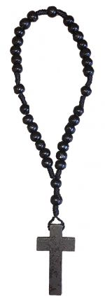 Black Wooden Anglican Rosary