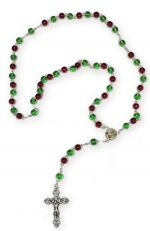 Glass Bead Christmas Rosary