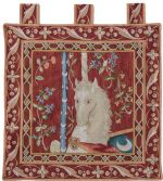 Cluny Unicorn Square Wall Tapestry
