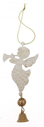 Decoration Cream Metal Angel