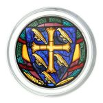 Westminster Abbey Cross & Martlets Glass Paperweight