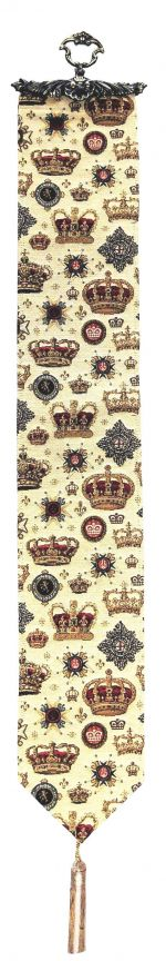 Crown Tapestry Bell Pull