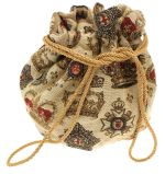 Crowns and Regalia Tapestry Drawstring Bag