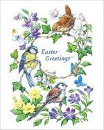 Birds and Flower Easter Card