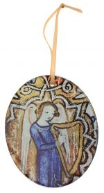 Glass Decoration Angel With Harp