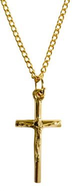 Gold Finished Crucifix Necklace