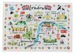 London Map Lens Cloth