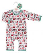 Little Red Bus Baby Jumpsuit