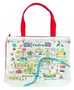Westminster Abbey London Map Tote Bag