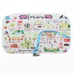 Westminster Abbey London Map Mini Manicure Set