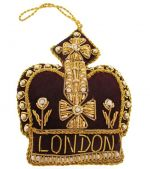 London Maroon Crown Decoration