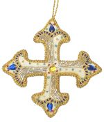 Patonce Cross Beaded Decoration