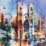 Westminster Abbey Collage Greetings Card