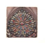 Rose Window Marble Magnet