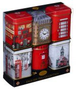 Six Mini London Tea Tins Gift Pack