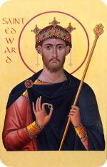 St Edward the Confessor Icon Prayer Card