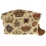 Crowns and Regalia Tapestry Purse