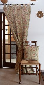 Tudor Rose Door Curtains