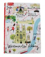 Westminster Abbey London Map A5 Canvas Notebook