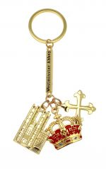 Westminster Abbey Triple Charm Keyring