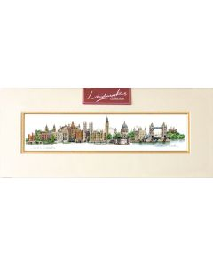 London Landmarks Mounted Print