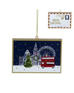 Wooden London Postcard Decoration