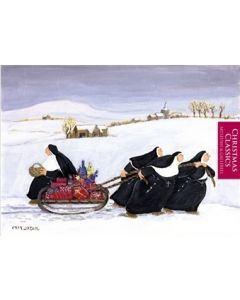 Tobogganing Nuns Christmas Card Pack