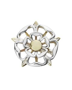 Silver Tudor Rose Brooch