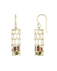 Gold Plated Henry VII Chantry Earrings
