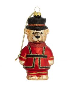 Teddy Beefeater Glass Decoration