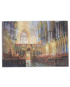 The Quire Looking West by Alexander Creswell Greetings Card