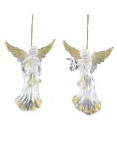 Clear Angel Christmas Tree Decoration