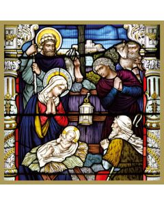 Stained Glass Adoration of the Shepherds Christmas Card Pack